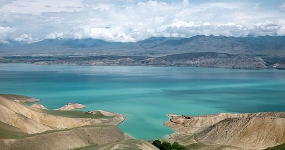 Toktogul highland mountain lake, Jalal-abad province, Kyrgyzstan by Elena Moiseeva, Shutterstock