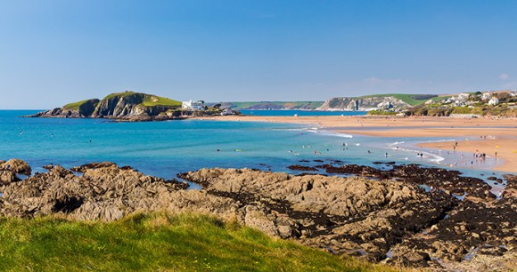 Burgh Island Britain by Ian Woolcock Shutterstock best coastal routes britain paddleboarding