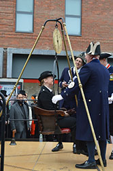 Mayor weighing High Wycombe Buckinghamshire by Janet Mears