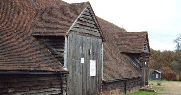 Mayflower Barn Jordans Buckinghamshire Britain by geograph.org.uk, wikimedia Commons