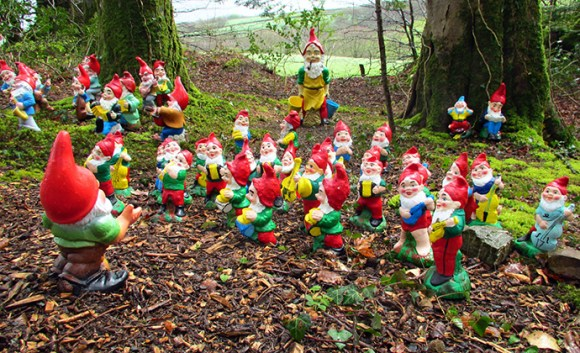 Gnome reserve, North Devon, UK by Richard Breakspear, Flickr