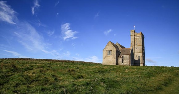 Church, Lundy Island, North Devon, UK by Havelock Photography, Shutterstock