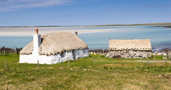 Croft houses Outer Hebrides Scotland by Luca Quadrio Dreamstime
