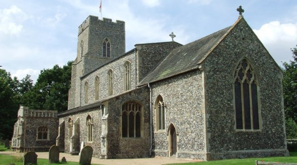 Church of All Saints, Mendham, Suffolk by Keith Evans, Wikimedia Commons