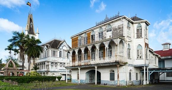 Avenue of Republic Georgetown Guyana by Gail Johnson, Shutterstock