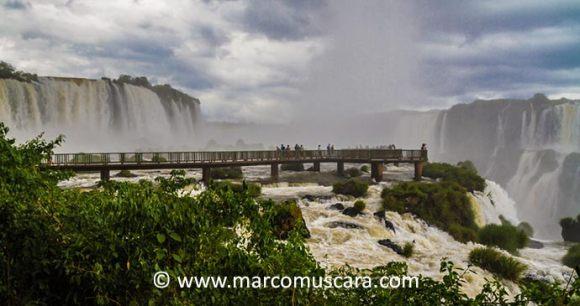 Iguazu Falls Paraguay South America by Marco Muscara