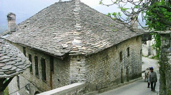 Houses in Gjirokastra, Albania by Martin Brož, Wikimedia Commons