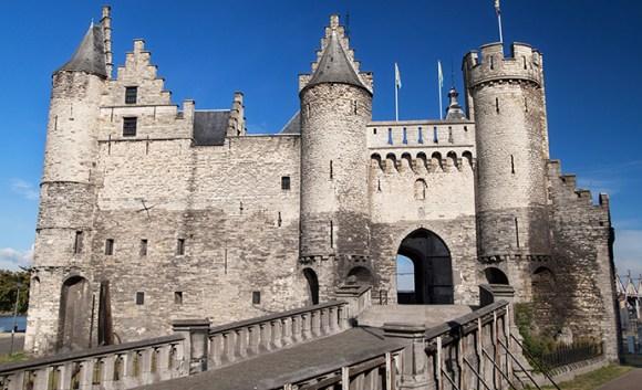 Het Steen Antwerp castle Flanders Belgium by Santi Rodriguez, Shutterstock