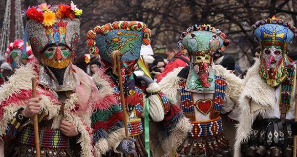 Mummers Kukeri Bulgaria © djumandji, Shutterstock