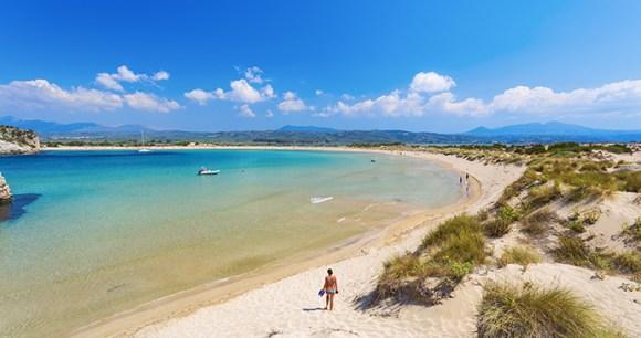 Voidokilia beach Peloponnese Greece Sunvil