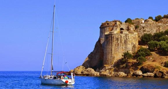 Koroni Castle The Peloponnese Greece by Kris Silver Wikimedia Commons