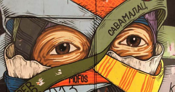 Street art, Savamala, Belgrade, Serbia by Laurence Mitchell