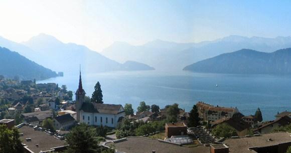 Weggis Lake Luzern Switzerland by Hullie Wikimedia Commons