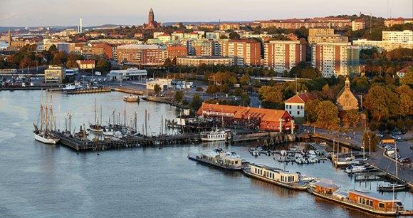 Gothenburg Harbour entrance West Sweden Europe by Kjell Holmner West Sweden Tourist Board