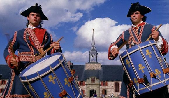 Drummers, Fortress of Louisbourg National Historic Site Nova Scotia Canada by Tourism Nova Scotia