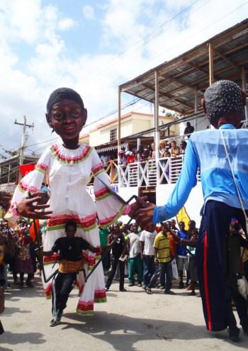 Large papier-mâché figures at the Jacmel Carnival, Haiti by Paul Clammer