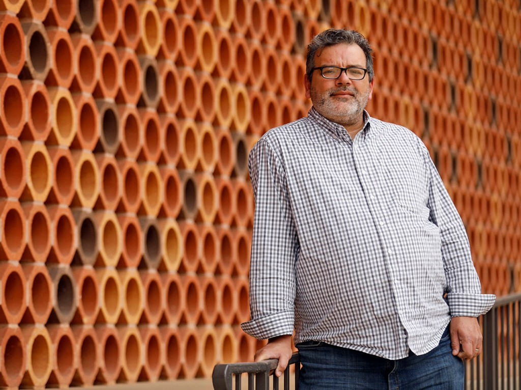 Dr. Rene Saldana, Jr., an associate professor of education at Texas Tech, photographed on Wednesday, Feb. 28, 2018 in Lubbock, Texas. (HMH/Brad Tollefson)