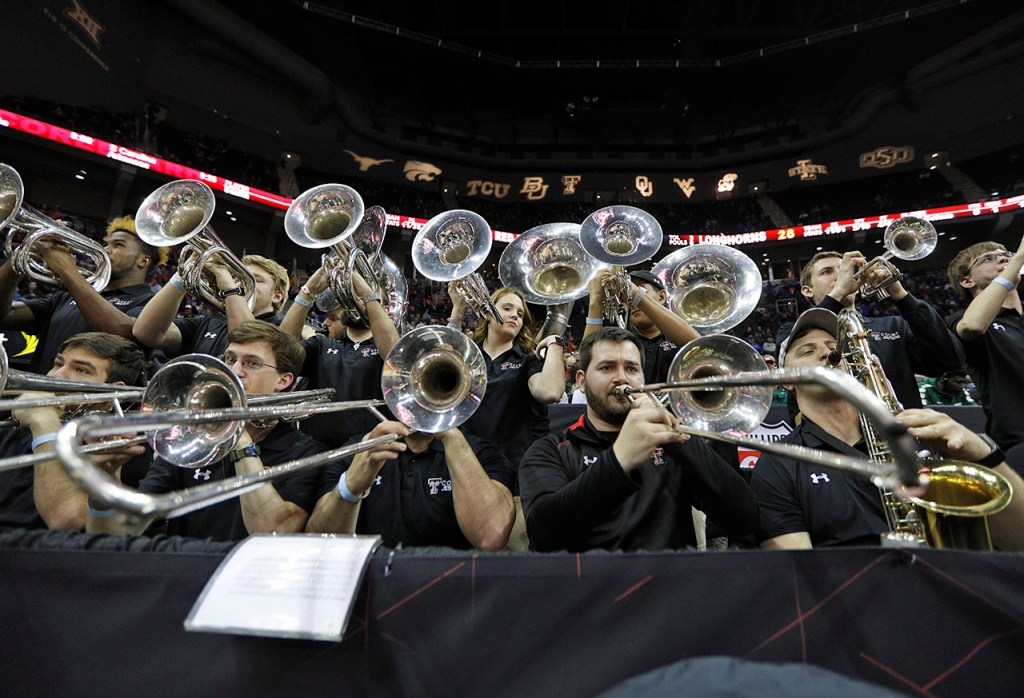 The Texas Tech Court Jesters perform during a Big 12 basketball tournament game against Texas, Thursday, March 8, 2018, at the Sprint Center in Kansas City, Mo. [Brad Tollefson/A-J Media]