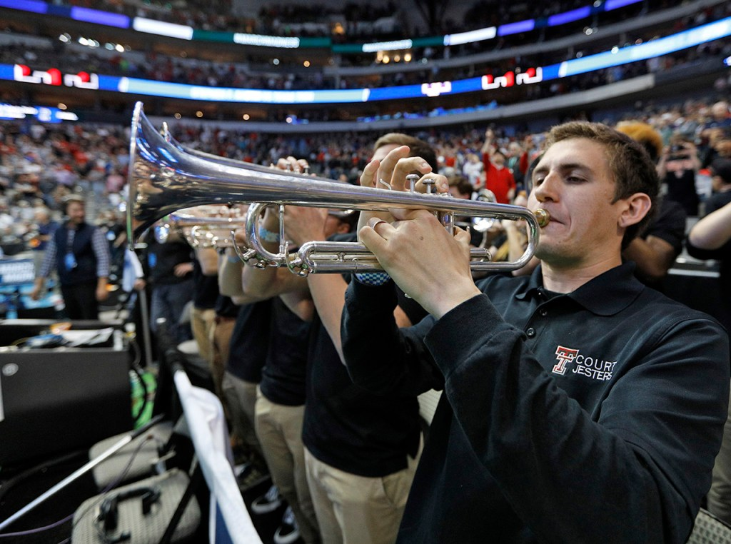 The Texas Tech Court Jesters perform during an NCAA college basketball tournament first-round game Thursday, March 15, 2018, at American Airlines Center in Dallas, Texas. [Brad Tollefson/A-J Media]