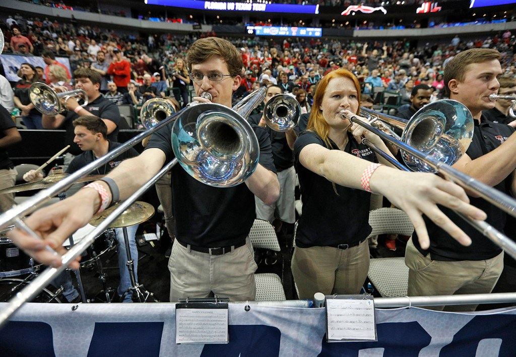 The Texas Tech Court Jesters perform during an NCAA college basketball tournament second-round game Saturday, March 17, 2018 at American Airlines Center in Dallas, Texas. [Brad Tollefson/A-J Media]
