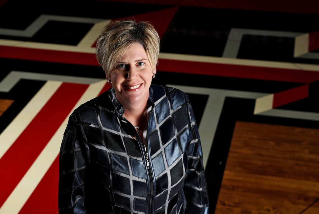Marlene Stollings the new Texas Tech Women's basketball coach Wednesday, Oct. 24, 2018, in Lubbock, Texas. [Brad Tollefson/A-J Media]