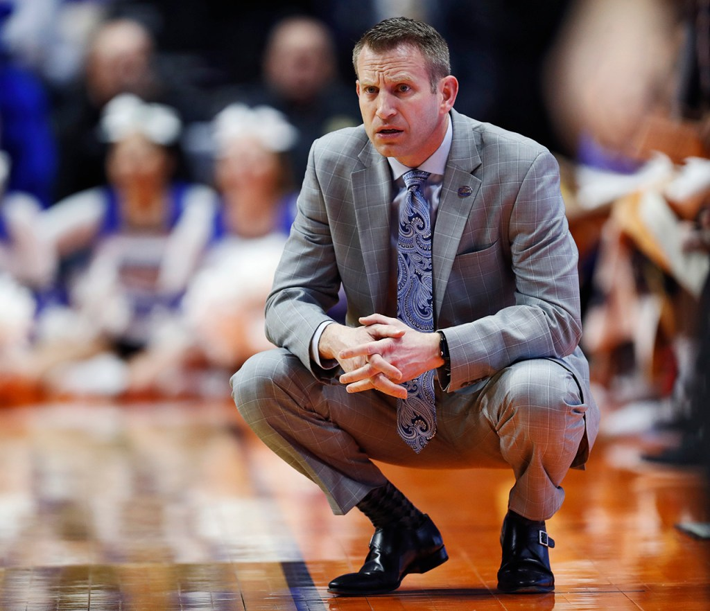 Buffalo coach Nate Oats watches his team on the court during the NCAA tournament second round game against Texas Tech, Sunday, March 24, 2019, at BOK Center in Tulsa, Okla. [Brad Tollefson/A-J Media]