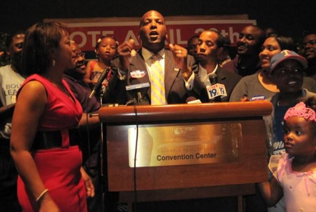 Steve Benjamin on that heady night in 2010 when he was elected mayor.
