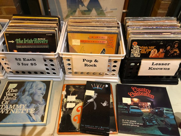 """I ended up purchasing three albums from """"3 for $5"""" bin."""