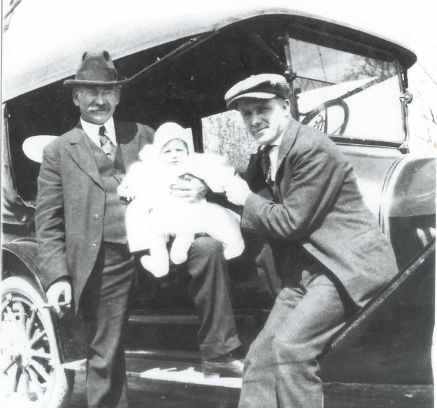 One of only four pictures I have of A.C. Warthen. He's shown with my grandfather and my Dad's much-older brother Gerald.