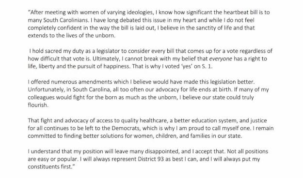 Russell Ott statement