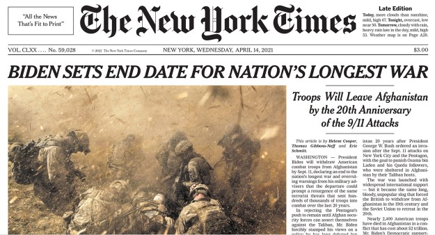 NYT front