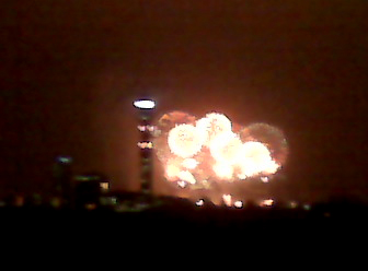 The terrible image I took of fireworks over London on my Blackberry, because that's what I was carrying back on the evening of Dec. 31, 2010...