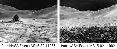 identical background nasa moon mission