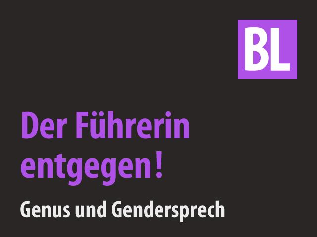Gender Sprech