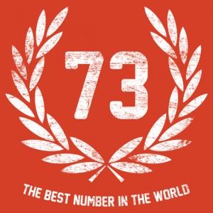 best number in the world sheldon logo seventy three
