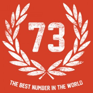 best number in the world sheldon logo seventy three