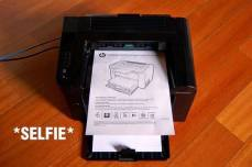 Selfie at its finest: a narcissistic printer