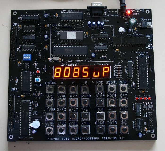 intel 8085 microprocessor kit