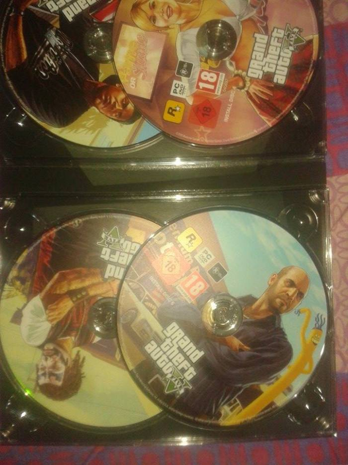 gta v pc pre order 7 dvd set image look unboxing india