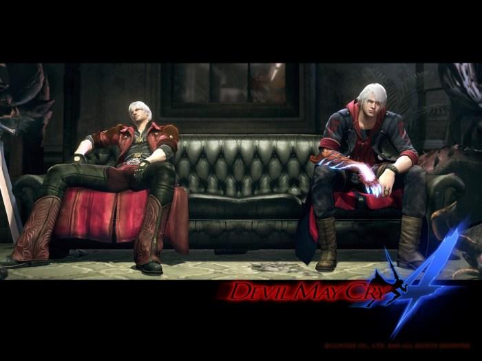 Devil may cry 4 art picture unlocked mission dante nero together sofa dante and nero fight