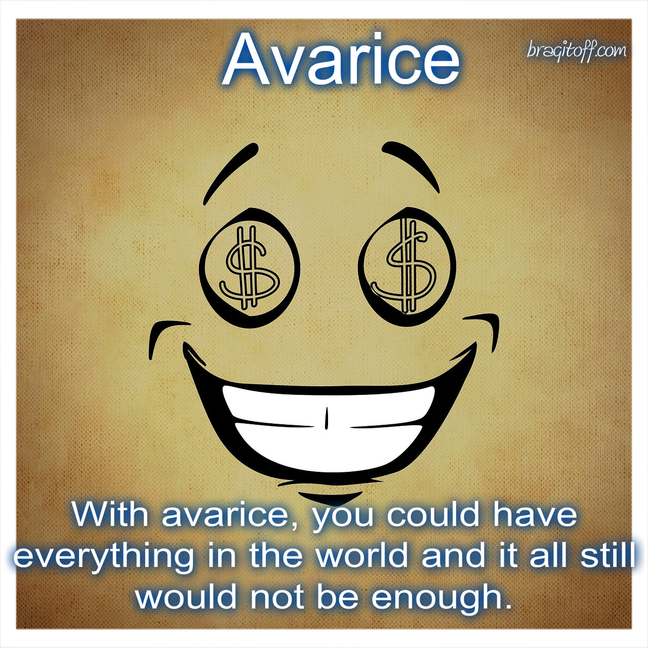 a cartoon clipart clip art of greed avarice