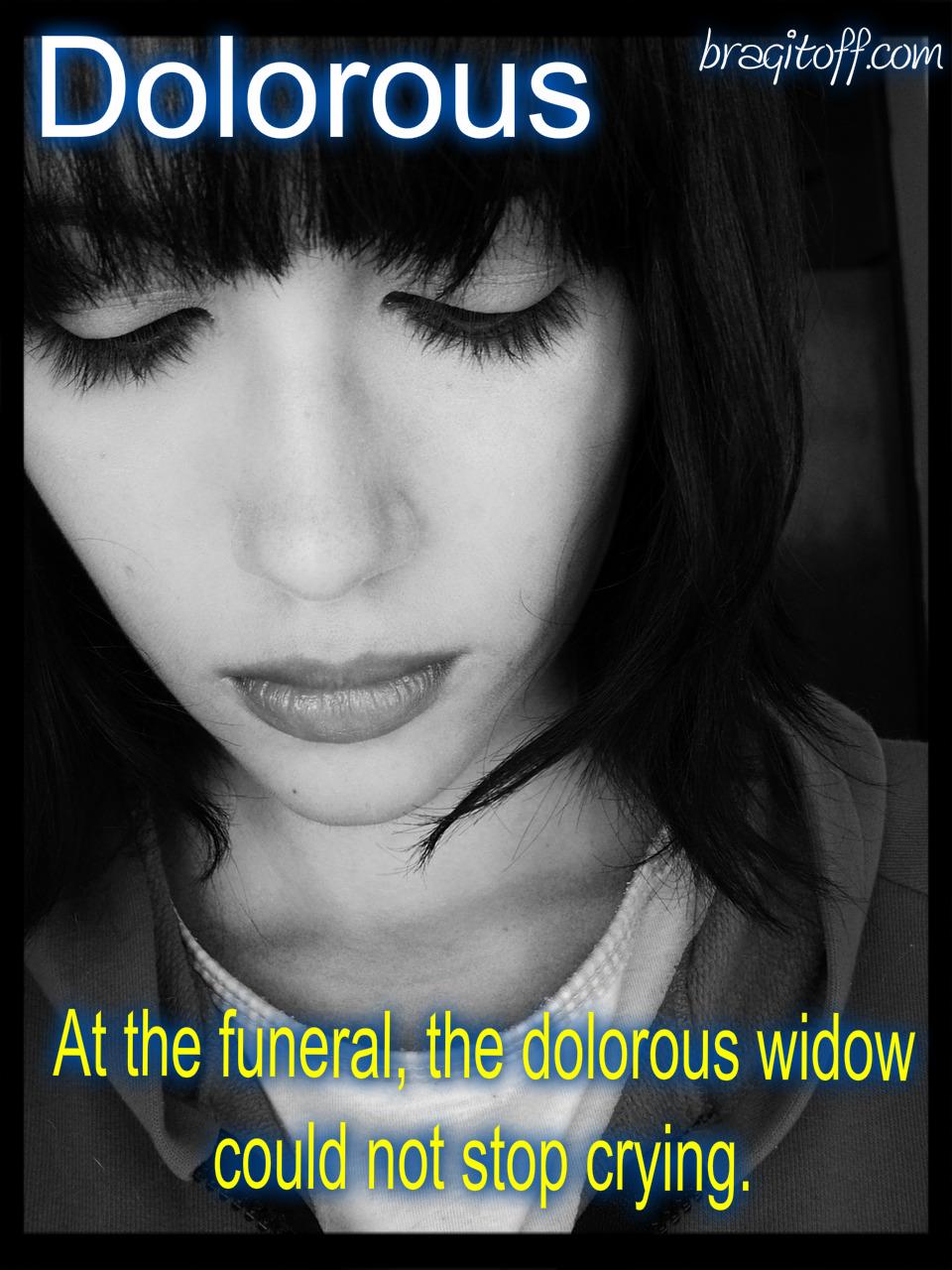 Dolorous Girl Sad Depressed Image Sentence Visual Definition Meaning  Dictionary Bragitoff