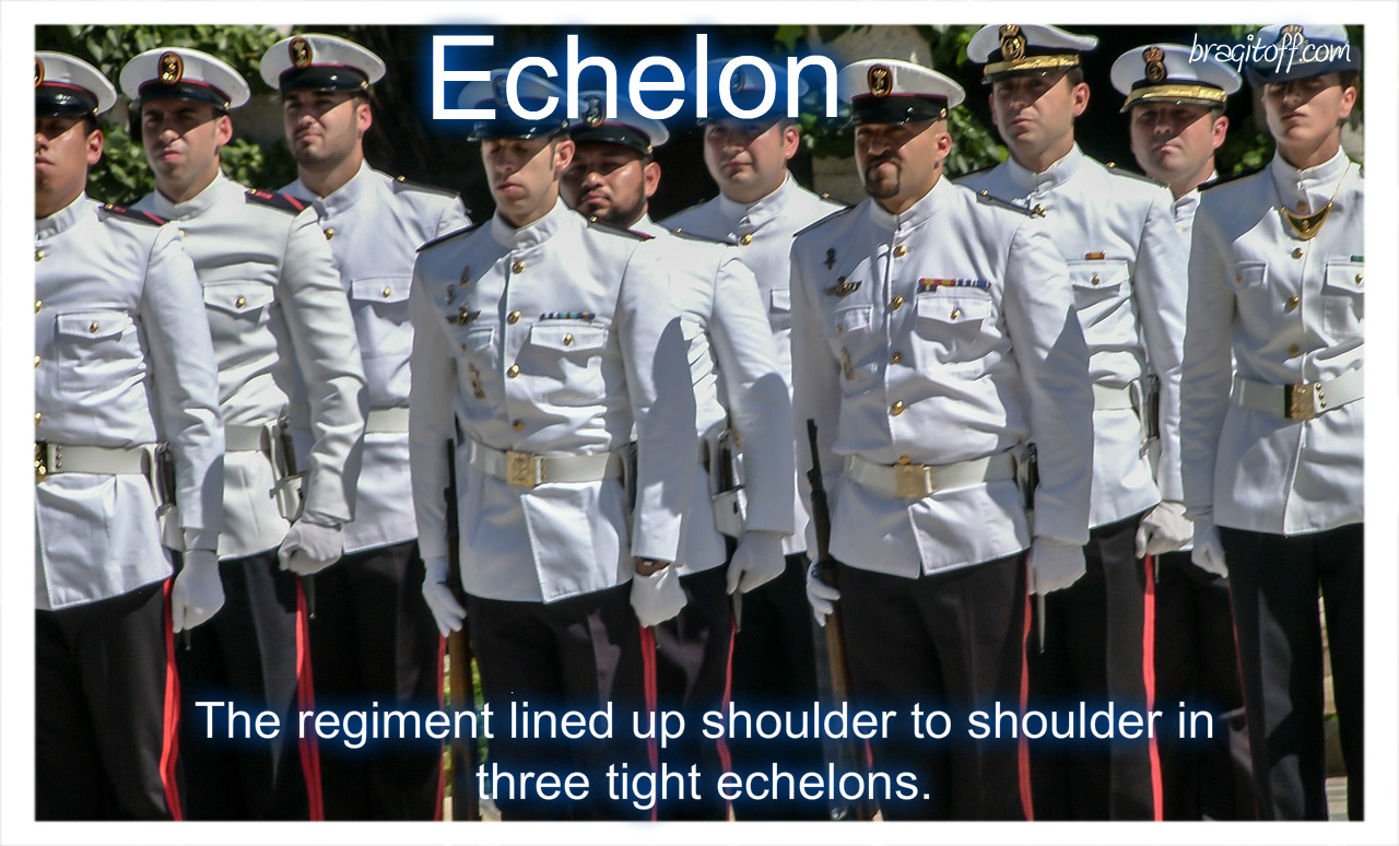 echelon define image marine navy people standing shoulder to shoulder in attention