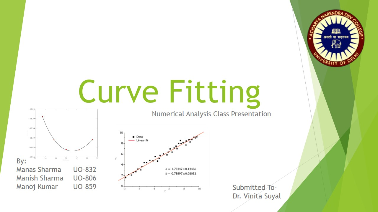 Curve fitting ppt