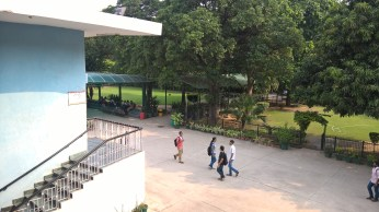 Acharya Narendra dev college andc front lawn park garden students andc image picture du