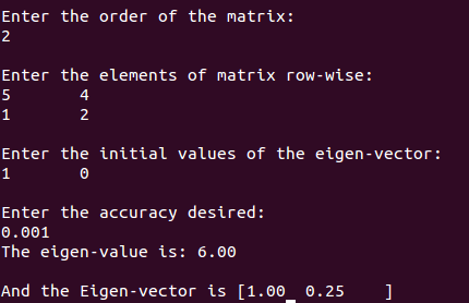 c++ program eigen value eigen vector eigenvalue eigenvector iterative method numerical analysis