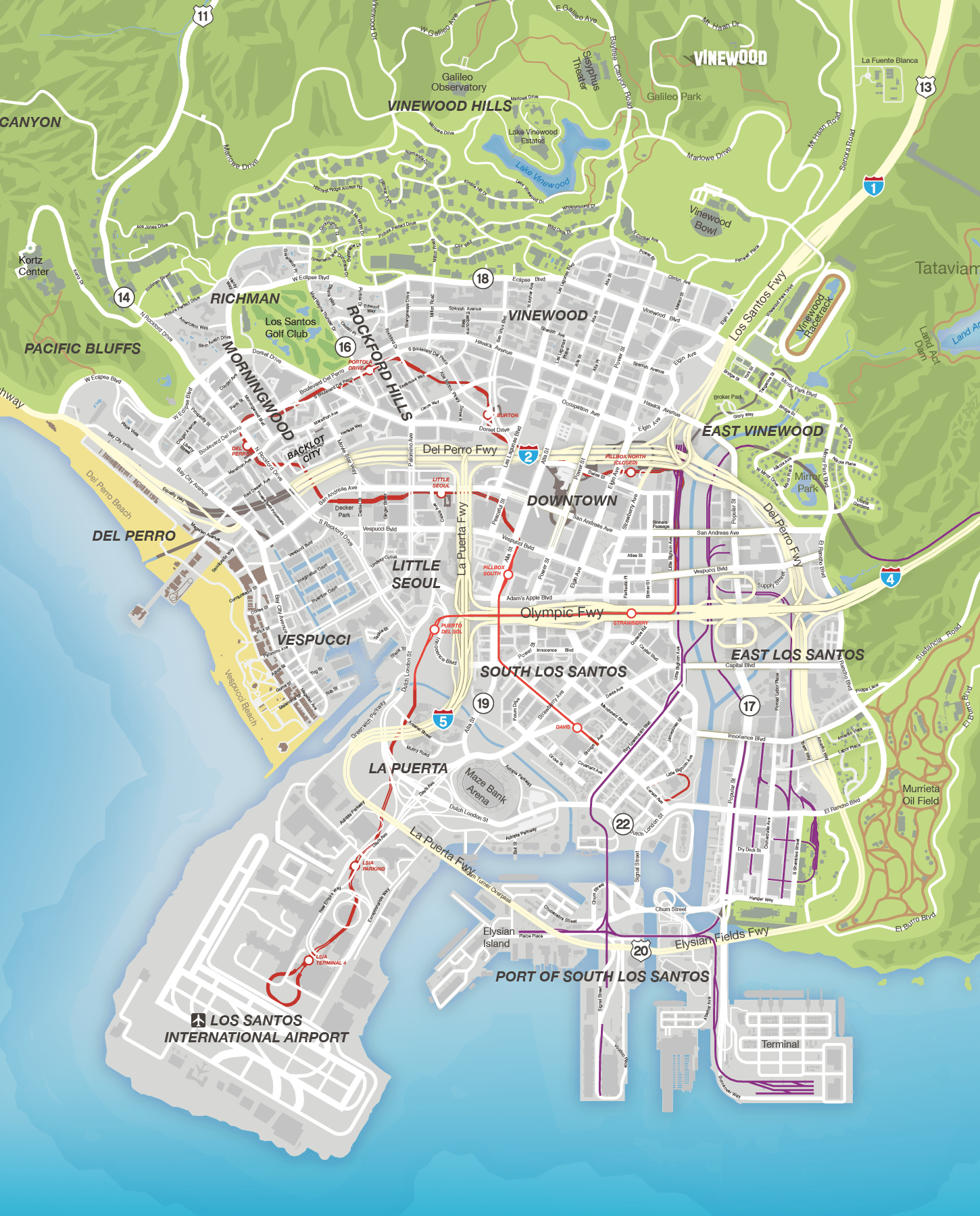 Gta V Map With Street Names : street, names, Street, Names, Catalog, Online
