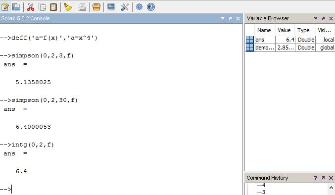 Simpson's 1/3rd Rule Integration SCILAB CODE(Program/Macro