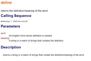 define scilab engdict module