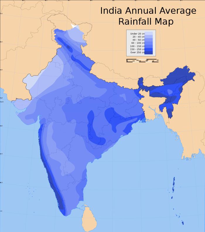 India-Annual-Rainfall-Map